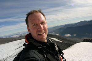 Fredrik trekking in Swedish Lapland, Foto;Fredrik Broman/Human Spectra