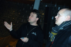 Orgeldiskussion med Roger Norén och Fredrik. Foto:Almkvist