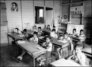Cuban schoolchildren in a classroom in the province of Guantánamo. Photo by Mikhail Evstafiev